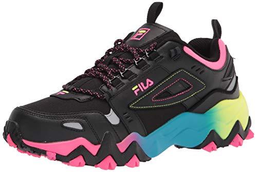 Fila Women's Oakmont TR Sneaker, Black/Black/Multi, 8
