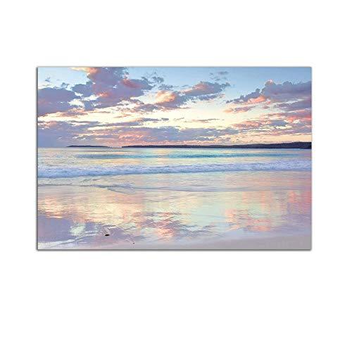 Startonight Cuadro sobre Vidrio - Playa Serena - Moderno Cuadro de Cristal...