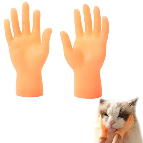 Interactive Pet Toys Mini Finger Dog Cat Massage Puppet Hand Tiny Hands for Cat Tease Game Massager Funny Pet Interactive Toys for Cats