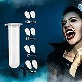 Best Vampire Fangs - 4 Pairs Vampire Teeth with Adhesive, Halloween Vampire Review