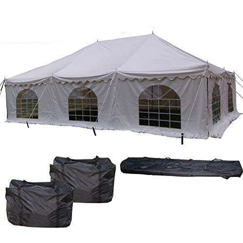 DELTA Canopies 30'x20' PVC Pole Tent - Heavy Duty Wedding Party Canopy Shelter - with Storage Bags