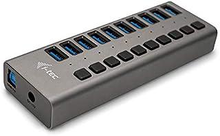 i-tec Hub USB Alimentato, Hub USB 3.0 con 10 Porte di Ricarica con Interruttore ON/off - 10 Porte USB 3.0 con Alimentatore...