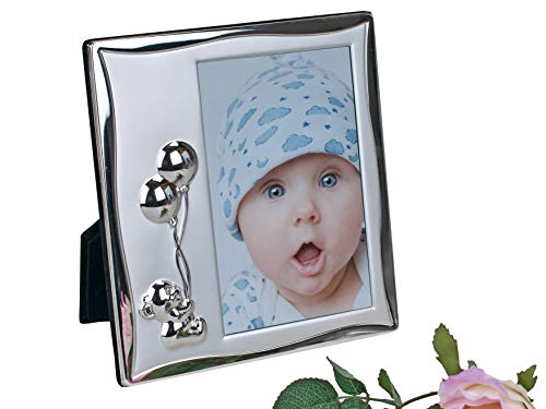 Cadre photo enfant TEDDY en aluminium moderne Argenté 10 x 15 cm