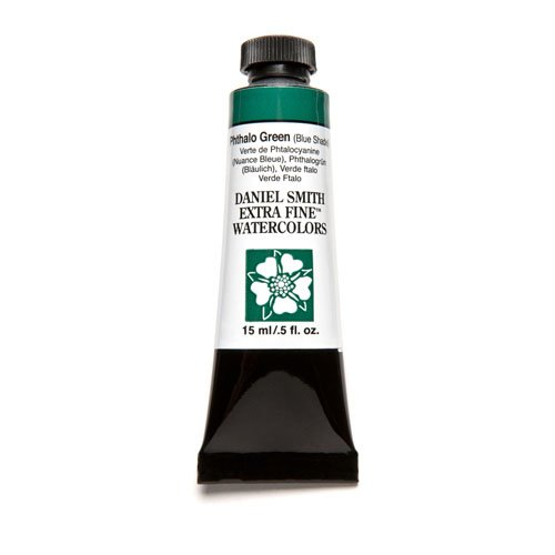 DANIEL SMITH Extra Fine Watercolor 15ml Paint Tube, Phthalo Green Blue Shade