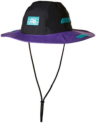 Outdoor Research Seattle Sombrero Retro Hat, Black/Purple Rain, X-Large