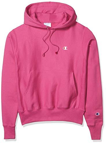 Champion LIFE Men's Reverse Weave PO Hood, Peony Parade Pink-Y06145, Large