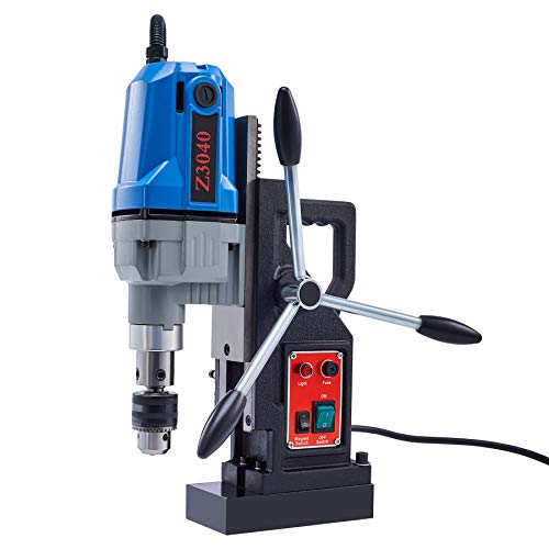 CO-Z 1100W Magnetic Drill Press with 1.6 Inch Boring Diameter, Power Mag Drill 2700lbf Electromagnet Portable Drilling Machine for Any Surface and Home Improvement