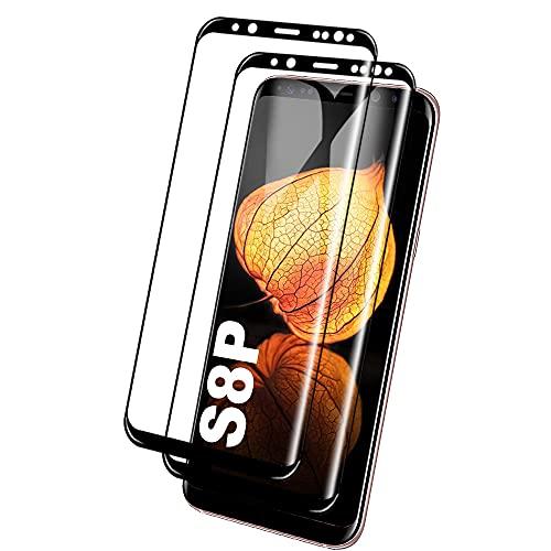 Galaxy S8 Plus Film Protection Ecran Verre Trempé, [2 Pièces] [Full Coverage] [Anti Rayures] [Ultra Claire] [Dureté 9H] Film Protecteur en Verre trempé de Haute qualité pour Samsung Galaxy S8 Plus