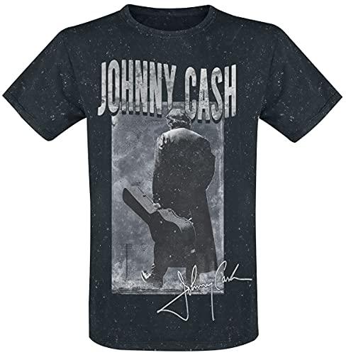 Johnny Cash There You Go Uomo T-Shirt Grafite S 100% Cotone Regular