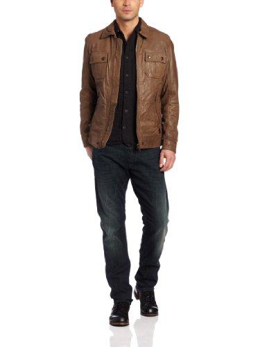 Diesel Lordid Jacke Lederjacke Gr. L Herren Jacket