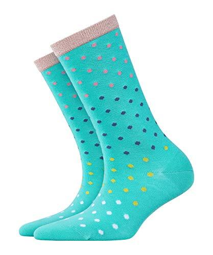 BURLINGTON Damen Socken Dotty - Baumwollmischung, 1 Paar, Blau (Tile Blue 6421), Größe: 36-41