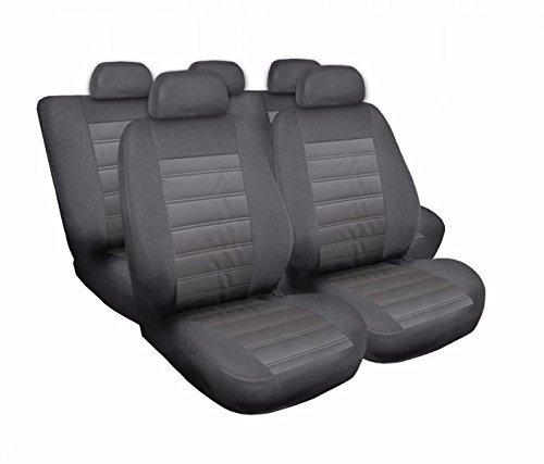 Voiture 4U, housses pour siège auto Protège Siège Set de 5 housses siège auto Siège auto protection, Elegance moderne, coussins Housses de sièges, gris