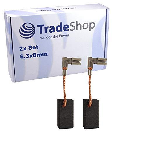2x Trade-Shop Kohlebürste für Metabo...