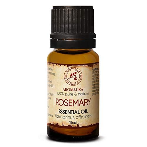 Aceite Esencial de Romero 10ml - Rosmarinus Officinalis - España - 100% Puro y Natural - Rosemary Essential Oil - Buen Humor - Relájese - Mejor para Aromaterapia - SPA - Cuidado Personal - Difusor