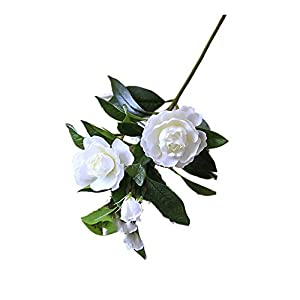 Artificial Blossom Branches Flowers Gardenia Flowers Artificial Silk Bouquets Wedding Home Decoration for Wedding Party Home Garden Blossom Flowers