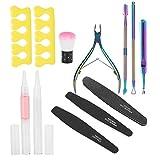 Kit de herramientas de recorte de pulido de uñas duradero Removedor de piel muerta profesional para principiantes para el hogar