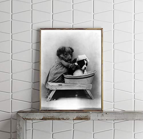 Foto: El baño, baño de perros en bañera, se libera, Harry Whittier 1914