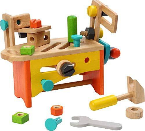 (ボイラ)VOILA 大工さんセット ツールボックス おもちゃ [木製 30点セット 3歳~] 知育玩具 木のおもちゃ 工具