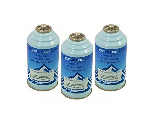 KIT 3 Bombolette Ricarica Auto aria condizionata fai da te air Con Top up Topup (Necessita di accessorio)