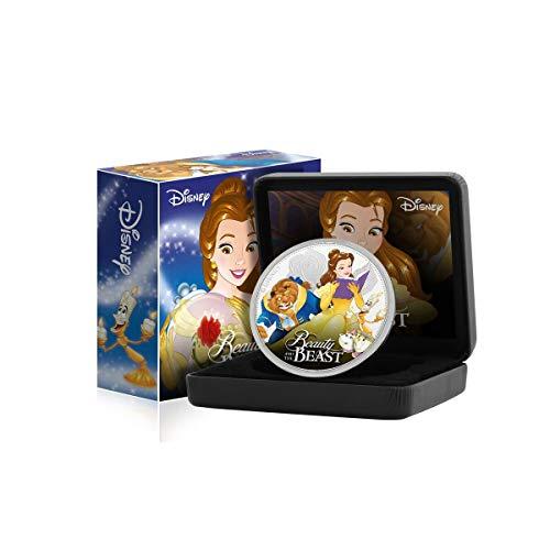 FANTASY CLUB Disney La Bella y la Bestia Edición Luxe - Moneda / Medalla bañada en Plata .999 - 65mm
