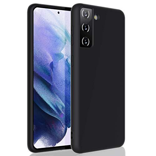 ZUSLAB Compatible con Samsung S21 (6,3') Funda Nano Silicona, Cubierta Delgada Case Suave - Negro