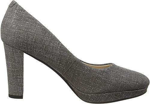 Clarks Kendra Sienna, Zapatos de Tacón Mujer, Gris (Grey), 39.5 EU en oferta