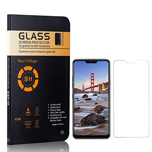 Screen Protector for LG G7 ThinQ, Bear Village HD Tempered Glass Screen Protector, Bubble Free, Anti Scratch Screen Protector Film for LG G7 ThinQ, 4 Pack