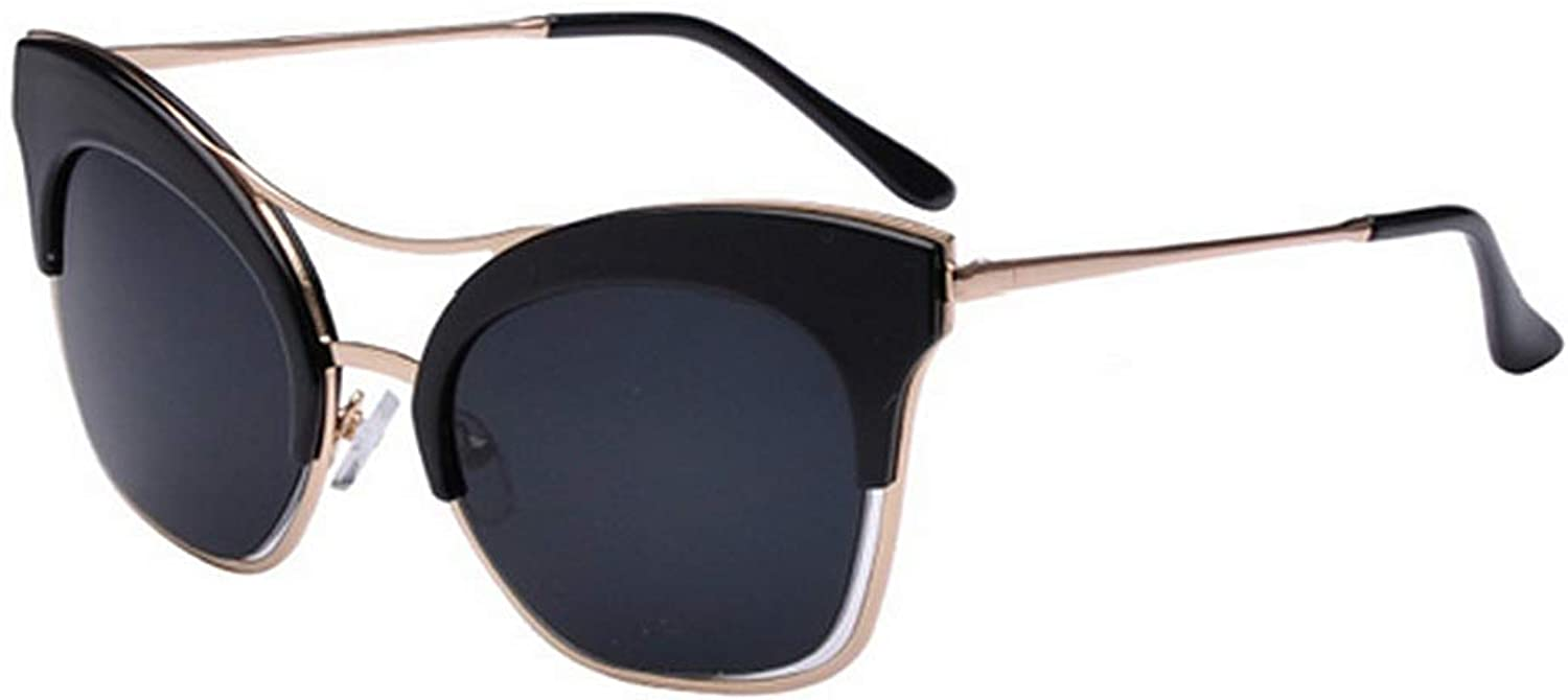 Cat Eyes Personality Sunglasses for Women UV400 Predection Driving Beach Summer Vacation (color   C1)