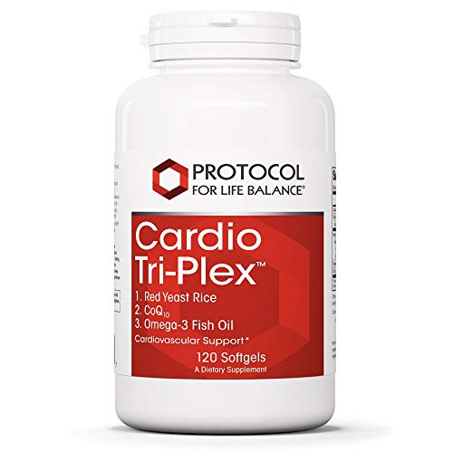 Protocol For Life Balance - Cardio Tri-Plex - CoQ10 and Omega-3 Rich Fish Oil for Cardiovascular Support, Cognitive (Brain) Function, Healthy Heart - 120 Softgels Delaware