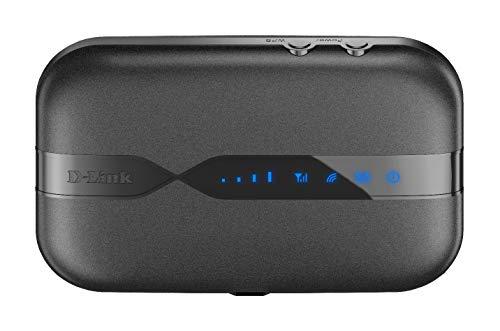 D-Link DWR-932 Pocket Hotspot 3G/4G LTE via SIM , Inclusa Batteria Ricaricabile da 2020 mAh, Wi-Fi N150 Mbps, SIM e Micro SD Card Slot, Nero