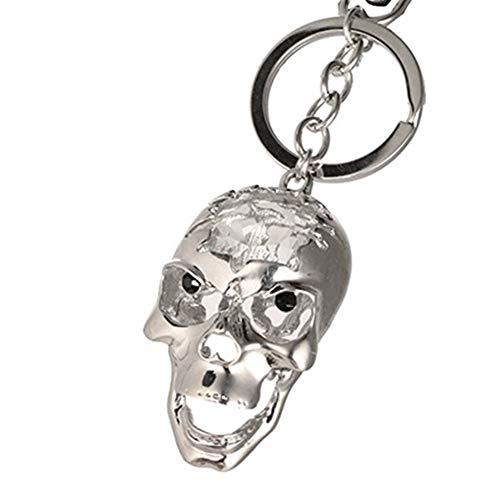 HNZZ Art Und Weise Der Kette Kristallschädel Keychain Anhänger Crystal Key Schlüsselanhänger (Color : White)