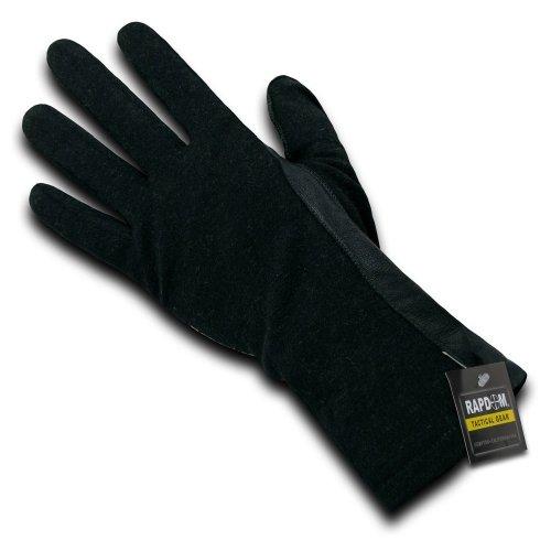 RAPDOM Tactical Nomex Flight Gloves, Black, Large