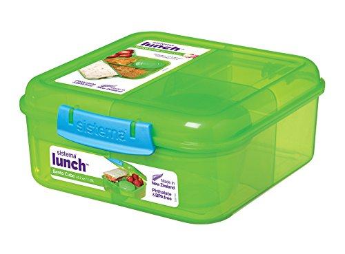 sistema Brotdose Lunchbox Lunch Bento Cube 1250 ml Made in New Zealand SI41685 (Grün)
