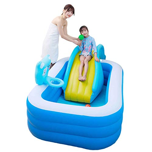 Niños Piscina Inflable, My First Pool Piscina Inflable Familiar Cámara De Aire Individuales Piscina Duradera para Patio Jardín Fiesta Al Aire Libre