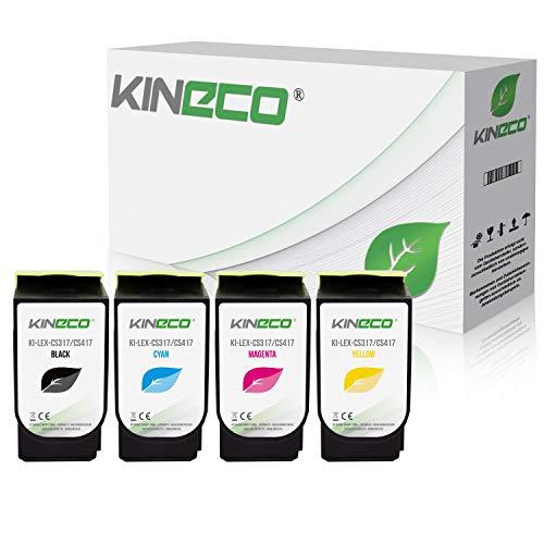 4 Kineco Toner kompatibel zu Lexmark CS317 für CS 317 DN CS 417 DN CS 517 DE CX 317 DN CX 417 DE CX 517 DE – 71B0010 71B0020 71B0030 71B0040