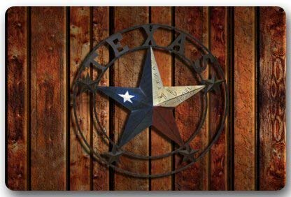 Yaxinduobao Felpudo,Western Texas Star Door Mats Cover Non-Slip Machine Washable Outdoor Indoor Bathroom Kitchen Decor Rug Mat Welcome Felpudo (40x60cm)