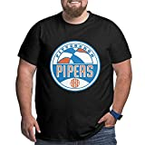 ABA Pittsburgh Pipers Mans Plus Size Short Sleeve T Shirts Cotton Printed Tee XXL to 6XL Black