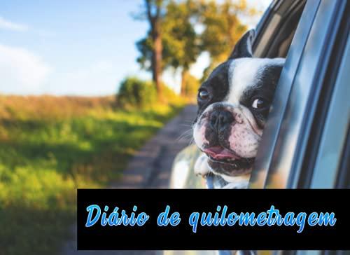 Diário de quilometragem: Registro de quilometragem para viagens de carro ou caminhão, rastreia o local de partida, chegada e quilômetros, registro de manutenção do carro. 120 páginas, 20.96 x 15.24 cm