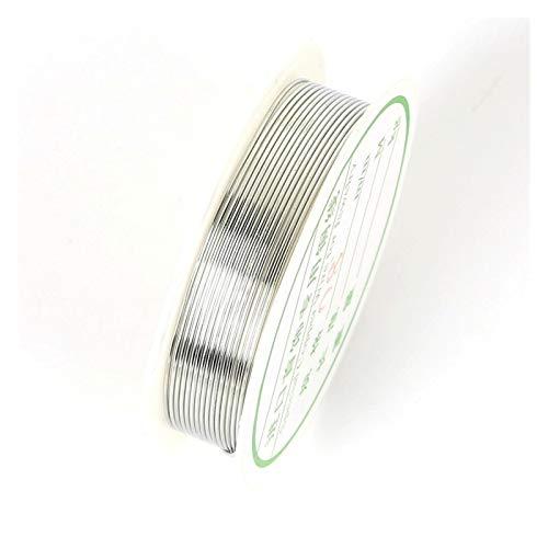 XUXUN Joyería Wire 0,2/0,25/0,3/0,4/0,5/0,6/0,8/1 mm de Oro Color de la Plata de la aleación de la Cuerda rebordeando el Alambre DIY Craft Haciendo Cuerda de la joyería Accesorios Cadena