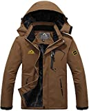 TACVASEN Fleece Jackets Mens Full Zip Waterproof Sports Jacket Snowboarding Travel Walking Cold Ski...