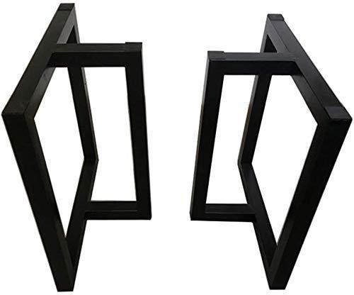 QTWW Soporte Negro para Patas de Mesa de Bricolaje/pie de Soporte de Barra/Accesorios de Metal/Base de Muebles (Tratamiento de Pintura), anticorrosión y antioxidante (Color: B, Tamaño: 68X4