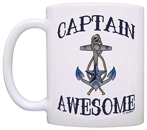 Vela Capitán Náutico Ancla de navegación impresionante - Taza de café Taza de té de café con leche