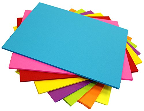 DEBRADALE DESIGNS Paper for Scrapbooking - 10 Sheets of 8 Astrobrights Cardstock Colors - 100# Super Thick Card stock - 8.5