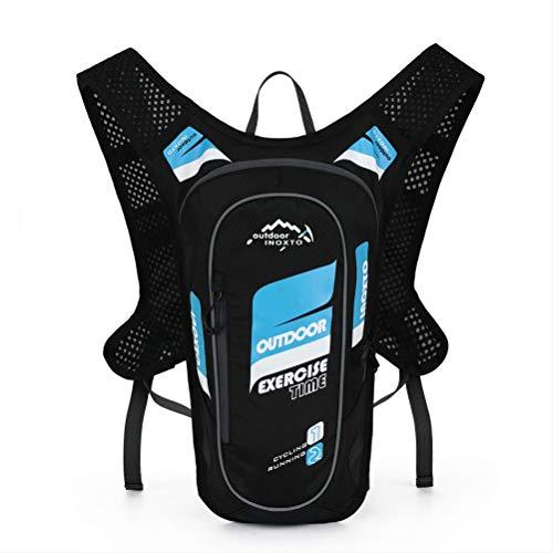 NA Cross-Country Running Water Bag Sac à Dos Ultra-léger Respirant étanche Marathon Travel Backpack,Blue