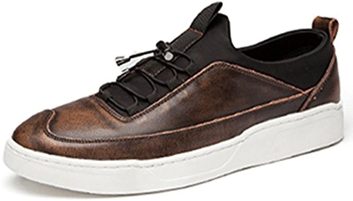 YIXINY B02 Spring And Autumn British Style Light And Breathable Fashion Outdoor Casual shoes Men's shoes (color   Ancient copper, Size   EU42 UK8.5 CN43)