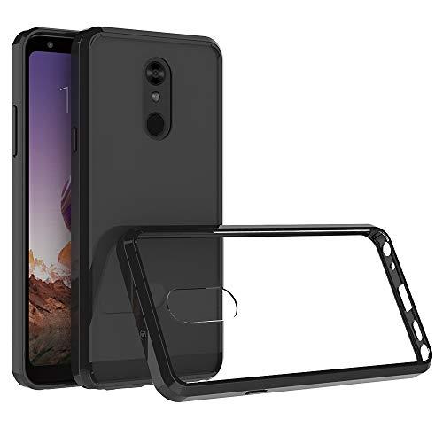 Xyamzhnn Estuches para teléfono para LG Stylo 5 a Prueba de Golpes a Prueba de Golpes TPU + Cáscara Protectora de acrílico (Color : Black)