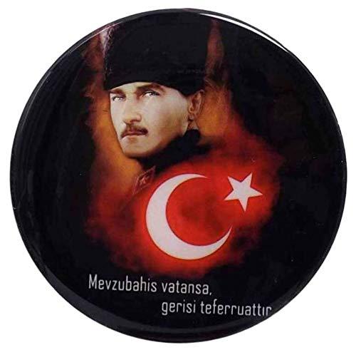 Gök-Türk Universele sticker waterdicht 11 cm Atatürk vlag