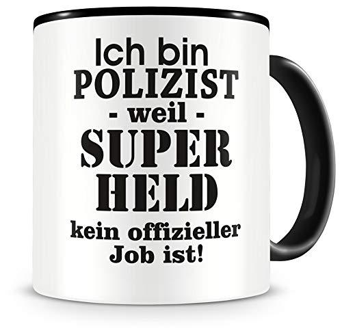 Samunshi® Ich bin Polizist Tasse Beruf Geschenk Kaffeetasse Teetasse Kaffeepott Kaffeebecher Becher 300ml Polizist