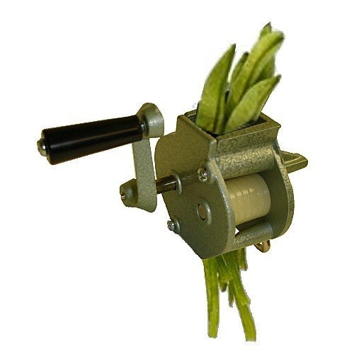 SCI Enameled Cast Aluminum Stainless Steel Blades Heavy Duty Manual Hand Crank Rotary String Bean Frencher/Slicer/Cutter with Clamp New Jersey