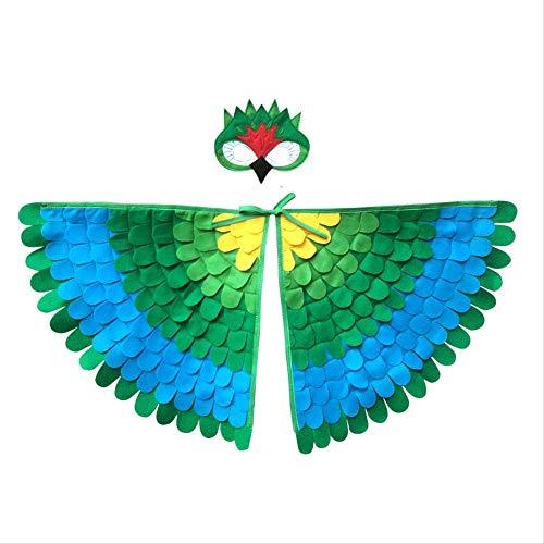 CHAOZHENG Eule mit Maske Kostüm Vogel Flügel Junge Halloween Mädchen Tier Kostüm Nacht Kleinkind Geschenk Kind
